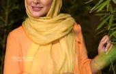 تیپ نارنجی شاد الهام حمیدی+عکس