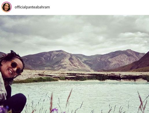 گردش پانته آ بهرام لب دریاچه+عکس