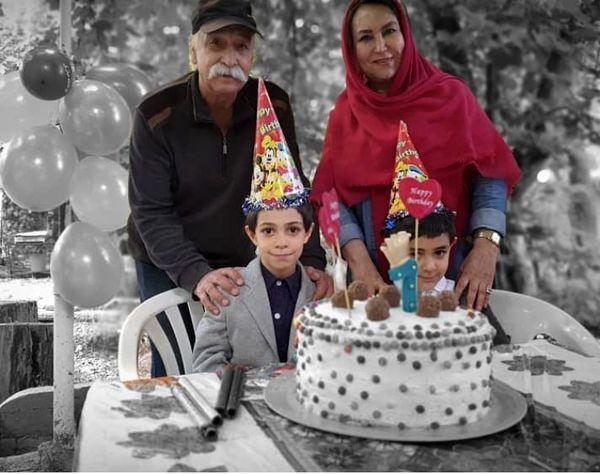 محمود پاک نیت و همسرش در تولد نوه هایشان + عکس