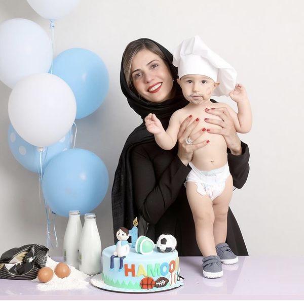 سارا بهرامی در تولد لاکچری خواهرزاده اش + عکس