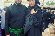پسر و عروس آقای سفیر در پیاده روی اربعین+عکس