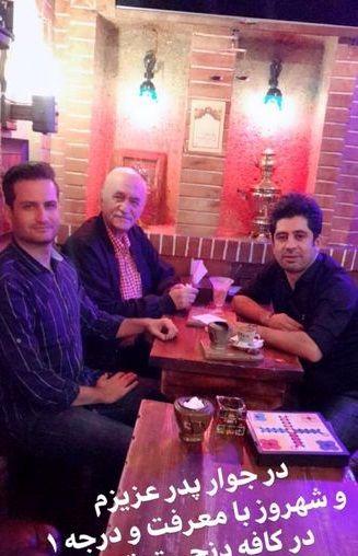 کافه گردی پویا امینی و پدر خوشتیپش+عکس