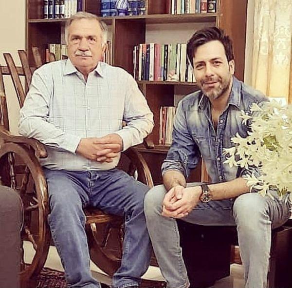 مجید واشقانی و پدرش + عکس