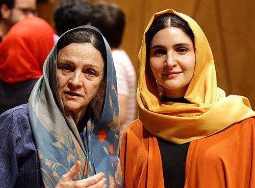 گلاب آدینه و دخترش در جشنواره فیلم فجر/عکس