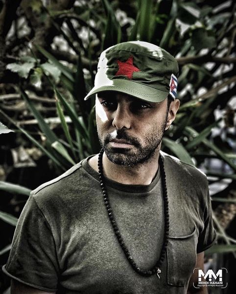 کلاه ارتشی مهدی ماهانی + عکس