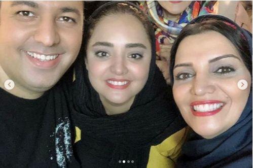عکس نرگس محمدی و همسرش در کنار الهام پاوه نژاد