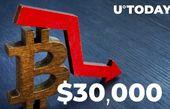 بیت کوین به 30،000 دلار سقوط کرد