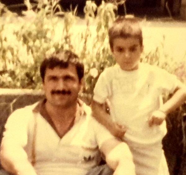 کودکی های مجید واشقانی در کنار پدرش + عکس