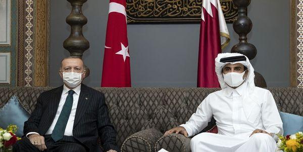 رایزنی اردوغان و امیر قطر درباره روابط دو کشور