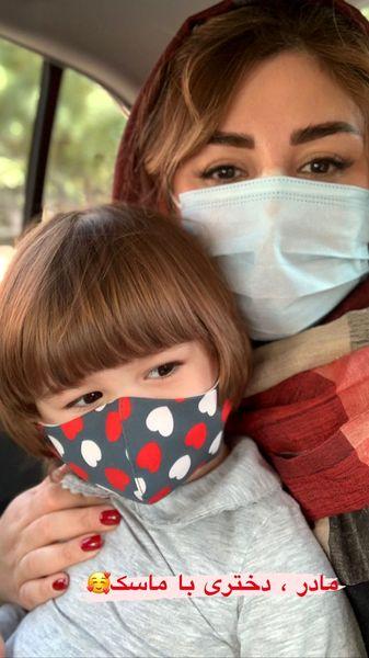 نیوشا ضیغمی و دخترش + عکس