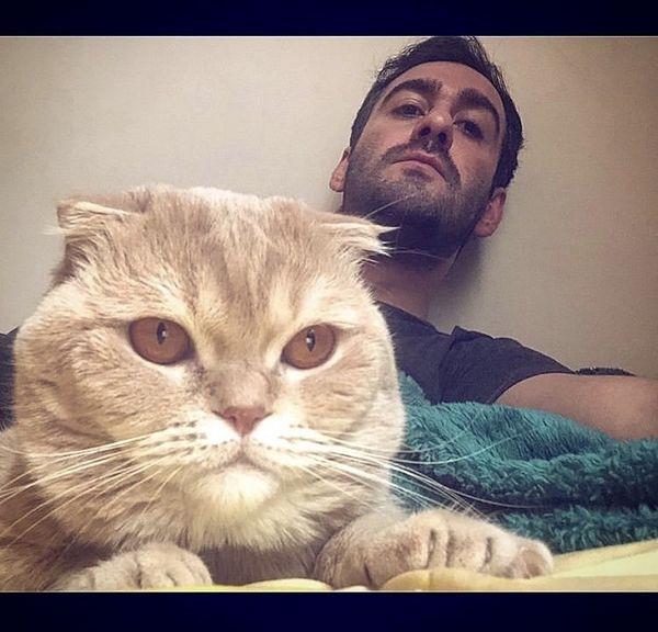 گربه بامزه نیما شعبان نژاد + عکس