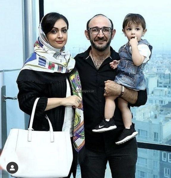 هدایت هاشمی در کنار دختر و همسرش + عکس