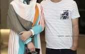 جواد عزتی وهمسرش در یک مراسم + عکس