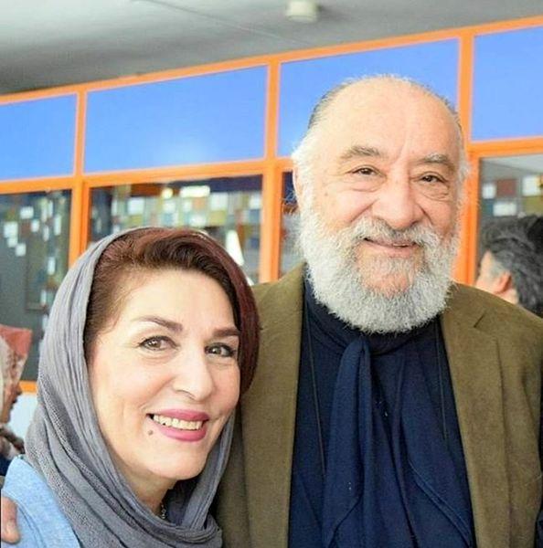 عکس عاشقانه حشمت فردوس و همسرش