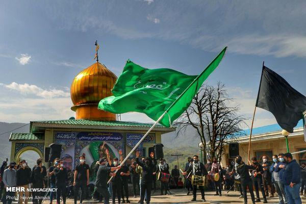 تشییع پیکر مطهر شهید «مجتبی برسنجی» در سوادکوه+ تصاویر