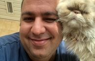 همسر نرگس محمدی با حیوان خانگیشان+عکس