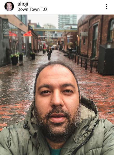 سلفی علی اوجی در کانادا + عکس