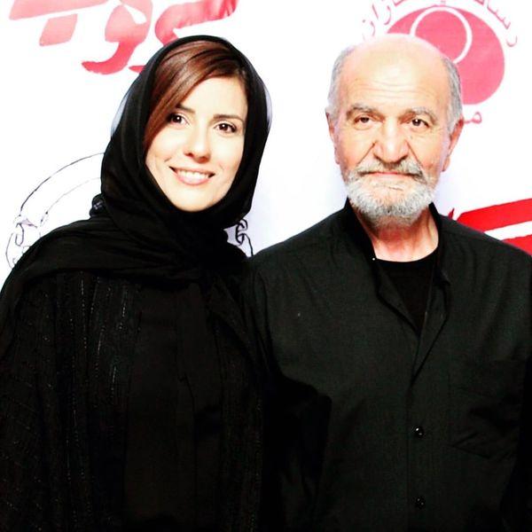 سینما رفتن سارا بهرامی به همراه پدرش+عکس
