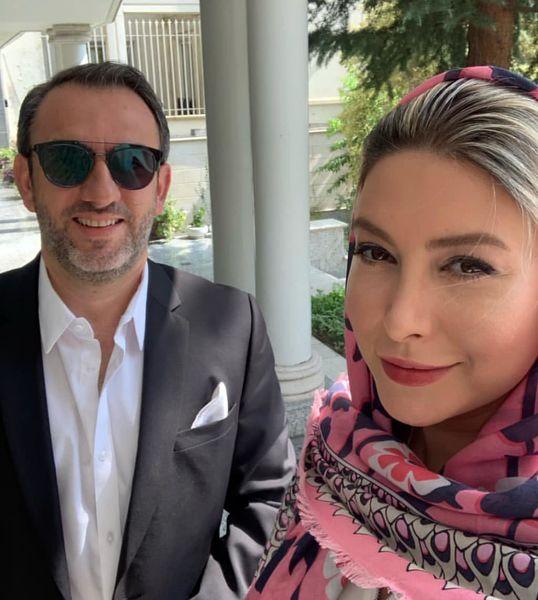 تیپ عید دیدنی فریبا نادری و همسرش+عکس