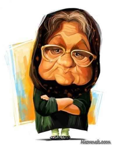کاریکاتور اکبر عبدی