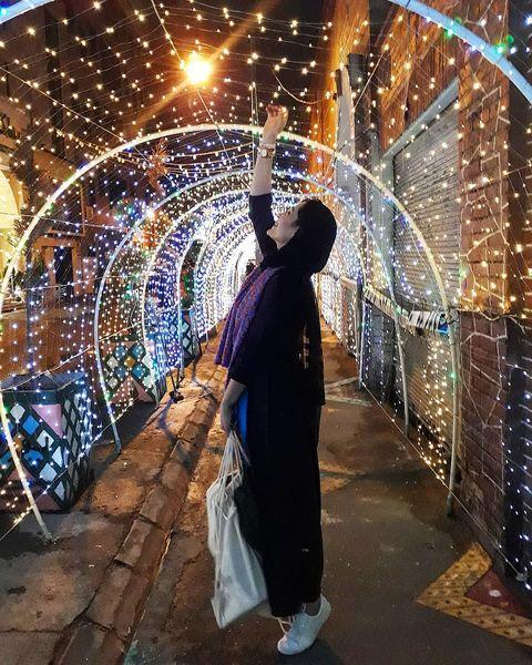 خانم بازیگر در آرزوی قدبلندی+عکس
