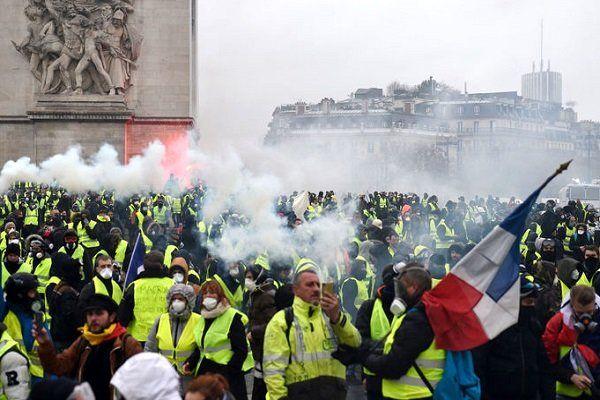 فراخوان گسترده جلیقه زردهای فرانسه برای اعتراضات بزرگ شنبه