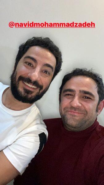 علی هاشمی در کنار نوید محمدزاده + عکس