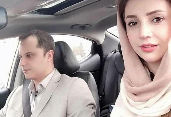 گردش شبنم قلی خانی و همسرش با ماشین لوکسشان+عکس