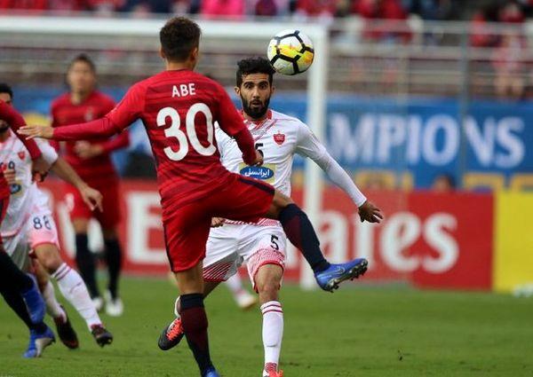 آنالیز AFC از افت شدید هافبک پرسپولیس در نیمه دوم بازی با کاشیما