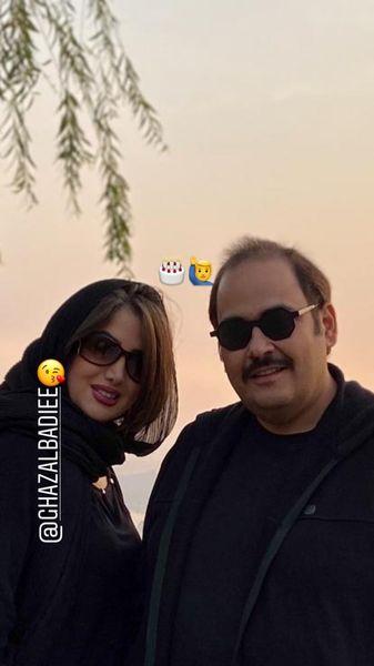 رضا داوودنژاد و همسرش + عکس