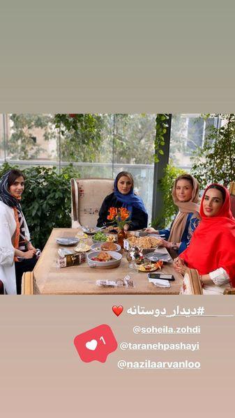 دورهمی سوگل طهماسبی با دوستانش در رستوران + عکس