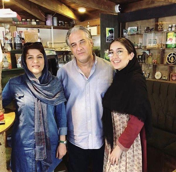 ایرج نوذری و همسر و دخترش + عکس