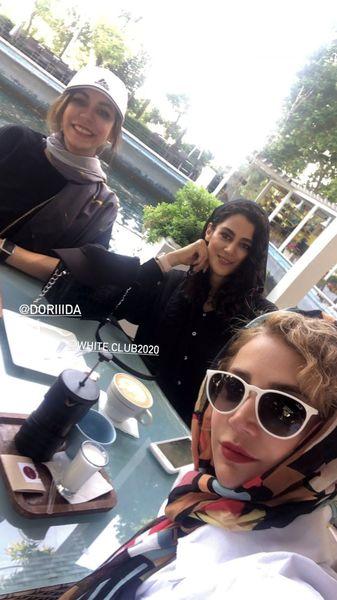 شبنم قلی خانی و دوستانش در کافه باشگاه انقلاب + عکس
