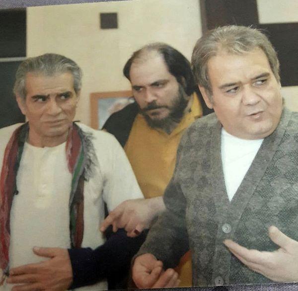 بازیگر شب های برره در کنار اکبر عبدی + عکس