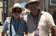 گردش حمید فرخ نژاد و پسرش در خارج از کشور+عکس