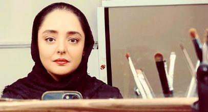 سلفی نرگس محمدی در آینه با چهره جدید + عکس