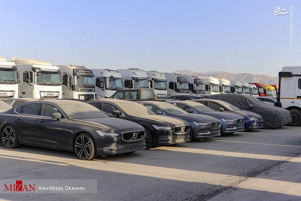 خودروهای دپو شده در گمرک تهران + عکس