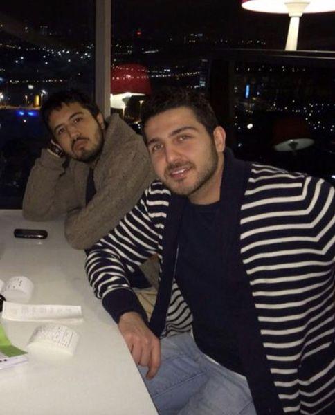 مهرداد صدیقیان در کنار دوست صمیمی مشهورش + عکی