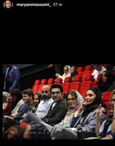 مریم معصومی در کنار فرزاد حسنی+عکس
