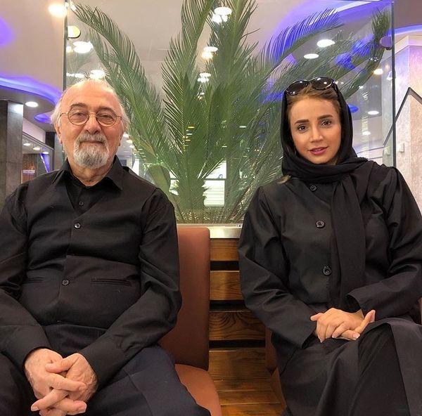تیپ عزادار شبنم قلی خانی و استاد معروفش+عکس