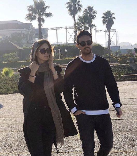 عکسی از شاهرخ استخری و همسرش