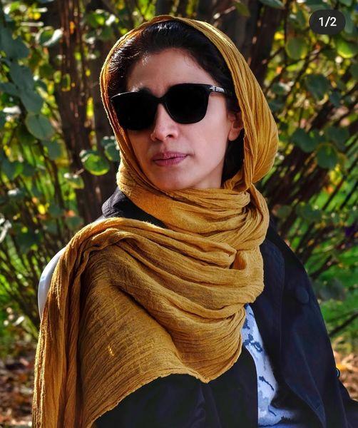 مینا ساداتی و عکس زیبای پاییزیاش