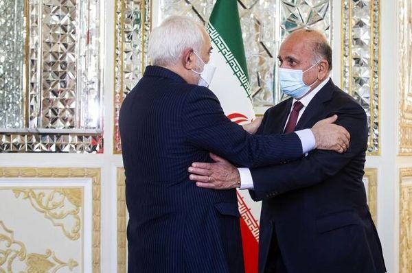 دیدار ظریف با وزیر امور خارجه عراق+ عکس