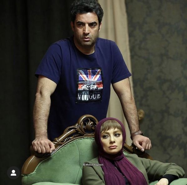 منوچهر هادی و همسرش + عکس