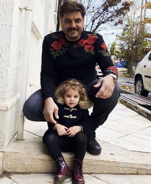 سام درخشانی و دختر بامزه اش + عکس