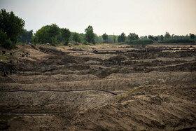 تخریب و دست درازی به آب بندان لپو زاغمرز به علت انتقال آب به زمینهای کشت برنج