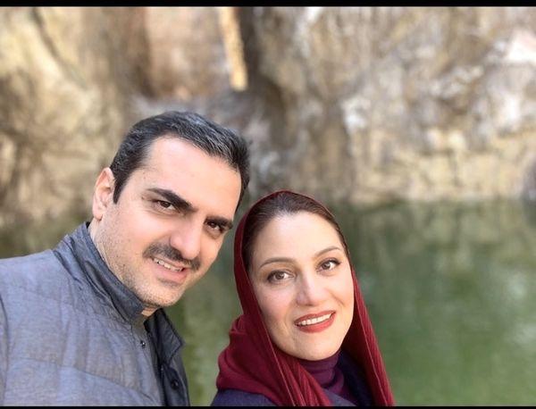 شبنم مقدیمی و همسرش + عکس