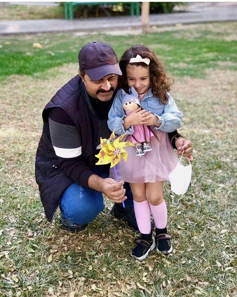 رضا مولایی و خواهرزاده اش + عکس