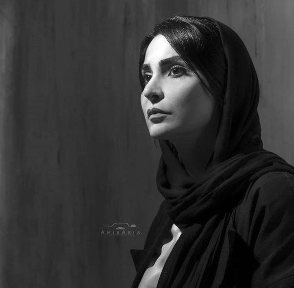 مهدیه نساج به رنگ سیاه و سفید + عکس