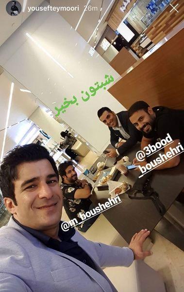 شب نشینی یوسف تیموری با دوستانش + عکس